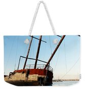 Derelict Faux Tall Ship Weekender Tote Bag by Trever Miller
