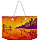 It Was Us That Scorched The Sky Weekender Tote Bag by Angelina Vick