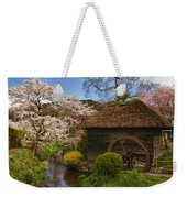 Old Cherry Blossom Water Mill Weekender Tote Bag by Sebastian Musial