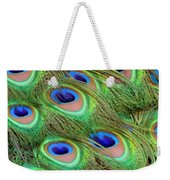 Peacock Feather Cascade Weekender Tote Bag by Angelina Vick