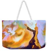 Praise Him Weekender Tote Bag by Susanna  Katherine