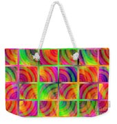 Rainbow Bliss 3 - Over The Rainbow H Weekender Tote Bag by Andee Design