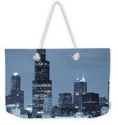 Sears Tower In Blue Weekender Tote Bag by Sebastian Musial