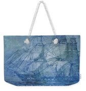 Ship 2 With Quote Weekender Tote Bag by Angelina Vick