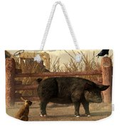 The Pig And The Hare Weekender Tote Bag by Daniel Eskridge