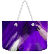 Tutu Stage Left Abstract Purple Weekender Tote Bag by Andee Design