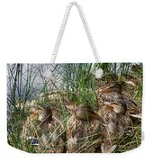 Waddle Of Ducks Weekender Tote Bag by Trever Miller