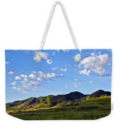 When Clouds Meet Mountains Weekender Tote Bag by Angelina Vick