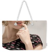 Blond Lady Weekender Tote Bag by Ralf Kaiser