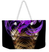 Grape Ice Cream Cone Weekender Tote Bag by Andee Design