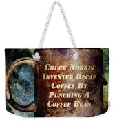 Gritty Chuck Norris 2 Weekender Tote Bag by Angelina Vick