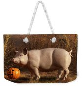 Halloween Pig Weekender Tote Bag by Daniel Eskridge