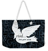Read Free Your Mind Teal Weekender Tote Bag by Angelina Vick
