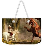 Saint George And The Dragon Weekender Tote Bag by Daniel Eskridge