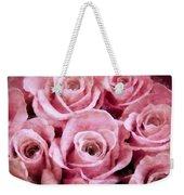 Soft Pink Roses Weekender Tote Bag by Angelina Vick