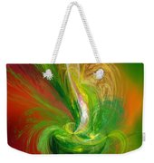 The Feathering Teacup Weekender Tote Bag by Andee Design