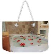 Tub Of Hibiscus Weekender Tote Bag by Shane Bechler