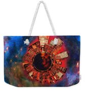 Wee Manhattan Planet - Artist Rendition Weekender Tote Bag by Nikki Marie Smith