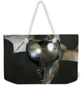 White Wine Dragon Weekender Tote Bag by Daniel Eskridge