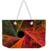 Wide Eye Color Delight Panorama Weekender Tote Bag by Andee Design