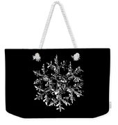 Snowflake Vector - Gardener's Dream Black Version Weekender Tote Bag by Alexey Kljatov