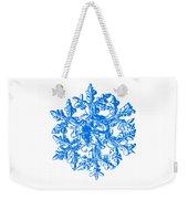Snowflake Vector - Gardener's Dream White Version Weekender Tote Bag by Alexey Kljatov