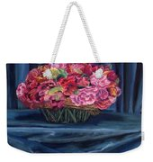 Fabric And Flowers Weekender Tote Bag by Sharon E Allen