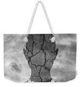 Feminine Figure With Moon Necklace Weekender Tote Bag by Dave Gordon