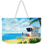 Hawaii North Shore Banzai Pipeline Weekender Tote Bag by Jerome Stumphauzer