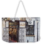 La Cigalena Old Restaurant Weekender Tote Bag by Tomas Castano