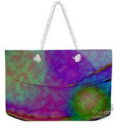 Muted Cool Tone Abstract Weekender Tote Bag by Andee Design
