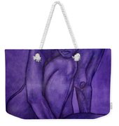 Purple Weekender Tote Bag by Thomas Valentine