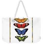 Rainbow Butterflies Weekender Tote Bag by Lucy Arnold