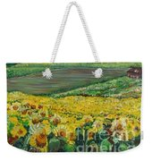 Sunflowers In Provence Weekender Tote Bag by Nadine Rippelmeyer