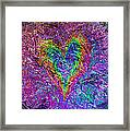 Love From The Ripple Of Thought  V 5  Framed Print by Kenneth James