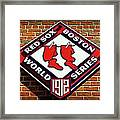 Boston Red Sox 1912 World Champions Framed Print by Stephen Stookey