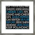 Carolina Panthers Framed Print by Jaime Friedman