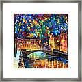 City Bridge Framed Print by Leonid Afremov