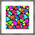 Hearts Framed Print by Louisa Knight