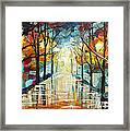 Lonely Alley Framed Print by Denisa Laura Doltu