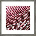 Stadium Seats Framed Print by Frank Gaertner
