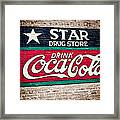 Star Drug Store Wall Sign Framed Print by Scott Pellegrin