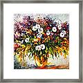Lilac And Camomiles Framed Print by Leonid Afremov