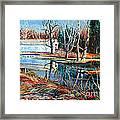 White Covered Bridge Framed Print by Doug Heavlow