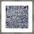 London England Street Map Framed Print by Michael Tompsett