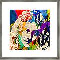Robert Plant Framed Print by Marvin Blaine