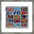 A Menagerie Of Colorful Quilts  Framed Print by Barbara Griffin