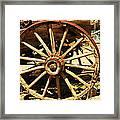 A Wagon Wheel Framed Print by Jeff Swan