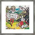 Alice In Wonderland Framed Print by Jesus Blasco