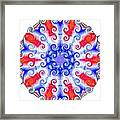 American Peace Circle Framed Print by Annette Allman